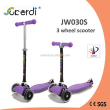 PU 3 wheel plastic nylon deck aluminum folding foot push kids kick new scooter