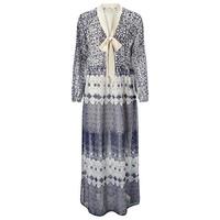 100% polyester Digital Printed Long Sleeve Long Maxi Dress /Digital Printed Chiffon long sleeve Maxi Dress