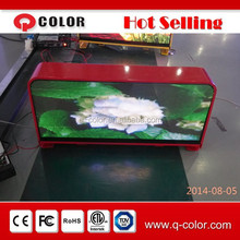 outdoor 6mm Pixel Pitch LED illuminated advertising signs for taxi