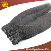 2015 new fashion unprocessed 100% brazilian yaki perm human hair