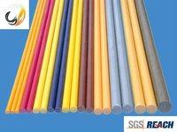 High quality G10 composite fiberglass flag rod, pultruded fiberglass/GRP taperd rod