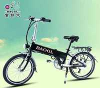 "20""Concealed Lithium Battery Electric Folding Bike adult pedal tricycle"