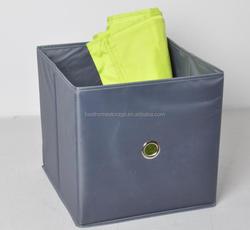Wholesale Grey fabric storage box, foldable storage cube for clothes organizer
