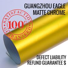 Shine vehicle wrap supplier 0.17mm matte chrome / supplier chrome / matte chrome