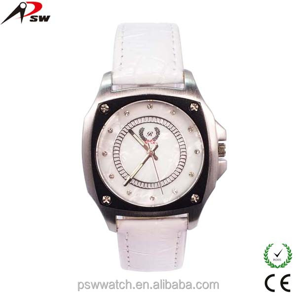 Eco-friendly geneva large face watch charm bracelet watch
