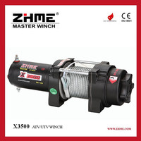ZHME X3500 3500lbs 12 volt winch of line pull winch with wire rope