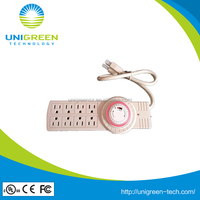 UL/ETL approval 8 outlet power strip with timer