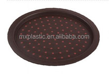 Bulk wholesale non slip plastic round food serving tray with TPR dot