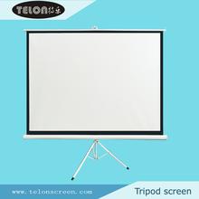 Telon trípode pantalla con matte white 4:3 fuera de la puerta pantalla de proyección de la escuela secundaria