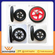 "12'' 14'' 16"" 20''Plastic /PVC pu foam kid's bike wheel"