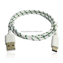 high quality colorful usb 3.1 cable braided cable wholesale made in China