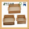 High quality OEM&ODM antique handmade wooden trays with handle chrismas wooden food serving tray