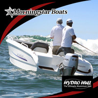 small aluminum racing yacht without outboard motor