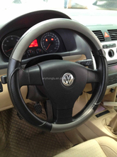Genuine leather customize steering wheel cover