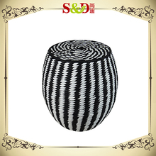 S&D Original Paper Rope Cylindrical Stool for Home and Garden Usage
