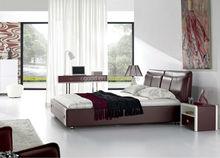 Modern home fruniture leather bed frame OBM9026