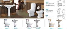 Sanitary ware ceramic toilet suite, decoration color two piece toilet