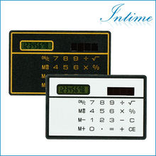 Slim portable solar calculator pocket calculator