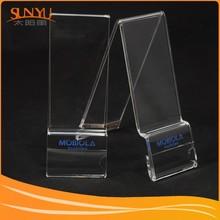 Wonderful Craftmanship! Customizable Clear Acrylic Mobile Phone Display Stand