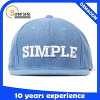 Flat Bill Snapback Cap 3D Embroidery Custom Inner Taping Woven Label Puff Embroidery