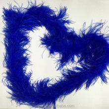 Blue Fluffy 4 Layer Party Dress Ostrich Feather Boa