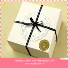 customized logo handmade rigid paper cardboard birthday cake box