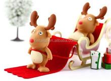 Christmas gift deer shape USB Flash Drive animal pendrive memory stick 8GB pen drive
