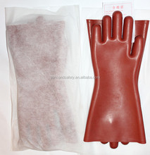Class 1 electrical insulation gloves for live working /power operation