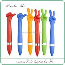 2015 Hot selling hand shape pen/plastic finger ball pen