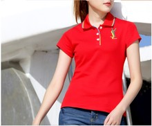 wholesales OEM service embroidered design ladies sport polo shirt