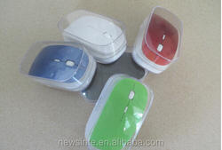 flat wireless mouse, 2.4G optical slim wireless mouse with various colors