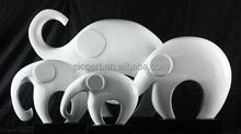 white adorable elephant sculpture, modern design resin artcraft animal sculpture decoration