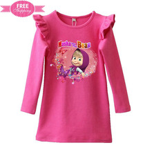 ShiJ Masha And Bear Fall Dress Girls Autumn Children For Sale