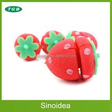 Strawberry shape sponge hair roller/magic sponge ball for curly hair