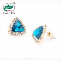 2015 Hot Sales Newst crystal earrings gold earring