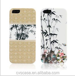 Color Printing Bamboo Design Hard Plastic Case For iPhone 5 Cover.