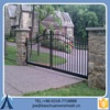 New Design Black Cheap Automatic Metal Gate For Garden Factory