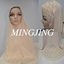 HJ-051 Artificial crystal paste kerchief/Arab headscarves