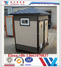 2015 New design luxury China portable toilet /guard room/small house/ koisk from Chinese exporter