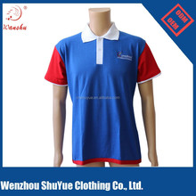color combination polo t-shirt with custom embroidery logo