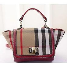 China supplier canvas designer handbag plaid women tote bag for 2015 SY6141
