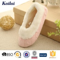 pink cashmere splice sexy nude color ballet shoes leather