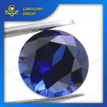 gems supplier high quality blue corundum stone round