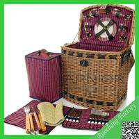 Wholesale handicraft collapsible market tote picnic basket/Classic popular picnic basket/Antique willow baskets,WY-1170