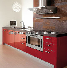 kitchen cabinet door in high grossy lacuqer 2014 new kitchen design customized furniture Foshan