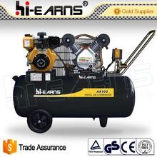4KW portable piston one cylinder four-stroke diesel engine air compressor