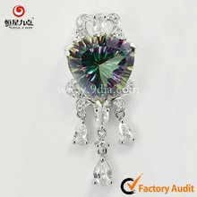 1P001645A New Style 925 Sterling Silver Pendant jewelry with Mystic Topaz