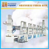 Fabric cotton waste recycling machine line, recycling machine