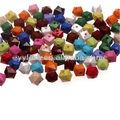 Venta al por mayor cuentas chunky, sólido 14*15mm facetas cubo de bolas de color mezclado para pulseras