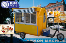 electric mobile food sales tricycle